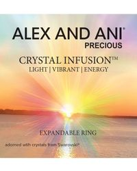ALEX AND ANI - Metallic Crystal Infusion Ring - Lyst