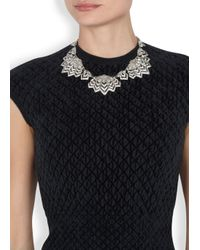 Ben-Amun | Metallic Silver Plated Swarovski Crystal Embellished Necklace | Lyst