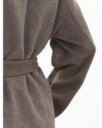 Banana Republic | Brown Belted Wrap Coat | Lyst
