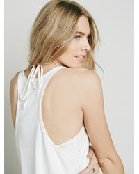 Free People | White Fp One Womens Fp One Two Tank | Lyst