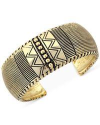 BCBGeneration | Metallic Gold-Tone Textured Cuff Bracelet | Lyst