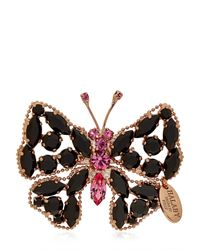 Halaby - Black Butterfly Pin Necklace - Lyst