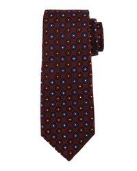 Kiton - Blue Circle-on-circle Silk Tie for Men - Lyst