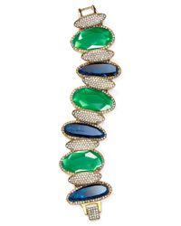 Ralph Lauren - Green Lauren Stone Bracelet - Lyst