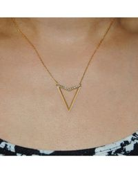 Adornia | Metallic Vivi Triangle Necklace Sterling Silver | Lyst