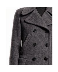 Theory - Gray Kenshon Coat In Bolton - Lyst