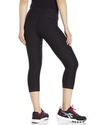 Reebok | Black Athletic Cropped Tights | Lyst
