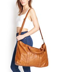 Forever 21 Brown Faux Leather Weekender You've Been Added To The Waitlist
