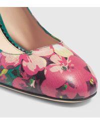 Gucci | Multicolor Blooms Print Pump | Lyst