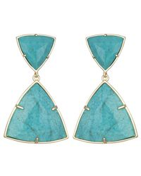 Kendra Scott | Blue Maury Statement Earrings, Turquoise | Lyst