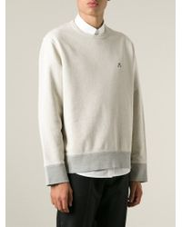 Acne Studios - Natural 'Campus' Sweatshirt for Men - Lyst