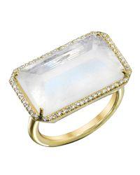 Irene Neuwirth - White Rainbow Moonstone Ring - Lyst