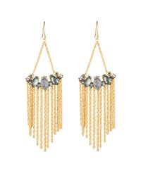 Alexis Bittar | Metallic Silver Saturn Crystal Marquis Fringe Earring You Might Also Like | Lyst