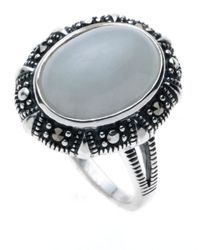 Lord & Taylor | White Oval Jade Ring | Lyst