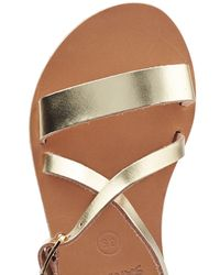 Ancient Greek Sandals - Comedia Metallic Leather Sandals - Silver - Lyst