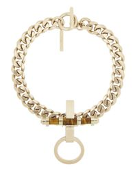 Givenchy - Metallic Obsedia Necklace In Pale Gold-Tone Brass And Tiger'S Eye - Lyst