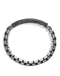David Yurman - Metallic Pavé Bracelet With Black Diamonds - Lyst