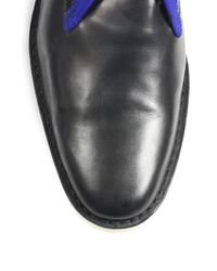 Pierre Hardy - Blue Leather Chukka Boots for Men - Lyst