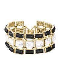 House of Harlow 1960 | Metallic Azure Mosaic Bracelet | Lyst