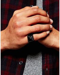 ASOS - Signet Ring In Black for Men - Lyst