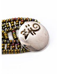 Ziio - Blue Net Multi-Beaded Bracelet - Lyst
