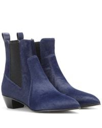 Marc By Marc Jacobs | Blue Lou Calf Hair Ankle Boots | Lyst