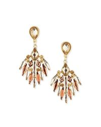 Jules Smith - Metallic Crystal Chandelier Earrings - Lyst