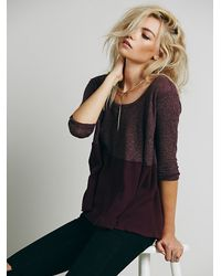 Free People | Purple We The Free Womens We The Free Half And Half Thermal | Lyst