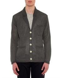 Inis Meáin - Gray Washed-Linen Pub Jacket for Men - Lyst