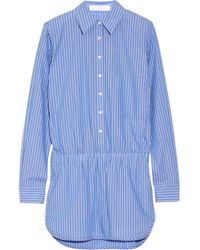 Thakoon Addition | Blue Addition Striped Cotton Playsuit | Lyst