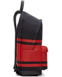 Givenchy - Black And Red Striped Neoprene Backpack - Lyst