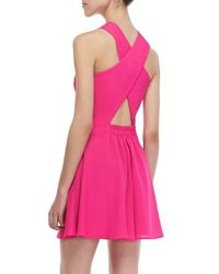Naven - Pink Twisted Crossback Dress - Lyst