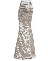 Nicole Miller - Metallic Techno Metal Mermaid Skirt - Lyst