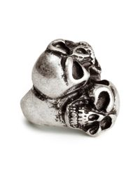 H&M | Metallic Skull Ring for Men | Lyst