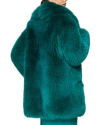 Cushnie et Ochs - Green Full Fox Fur Coat - Lyst