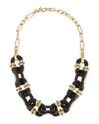 Alexis Bittar   Black Lucite Double-sided Link Station Necklace   Lyst