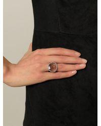 Rosa Maria - Metallic Diamond Quartz Ring - Lyst