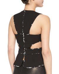 BCBGMAXAZRIA | Black Arianah Wrapped Cutout Top | Lyst