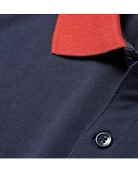 Band of Outsiders - Blue Contrast-Trim Cotton-Piquã© Polo Shirt for Men - Lyst