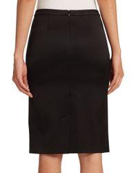 ATM - Black Tuxedo Pencil Skirt - Lyst