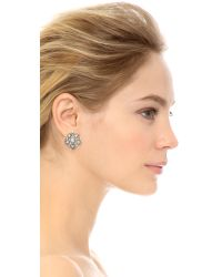 Oscar de la Renta - Metallic Crystal Stars Earrings - Crystal/silver - Lyst