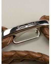 Paul Smith | Brown Leather Wrap Bracelet for Men | Lyst