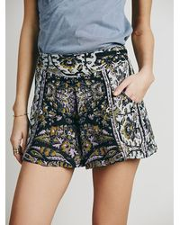Free People - Black Sahara Printed Short - Lyst