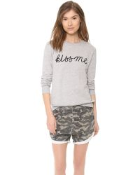 A Fine Line - Gray Kiss Me Forever Sweatshirt - Lyst