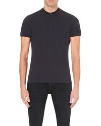 The Kooples | Gray Branded Cotton-piqué Polo Shirt for Men | Lyst