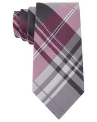 Kenneth Cole Reaction | Purple Plaid Slim Tie for Men | Lyst