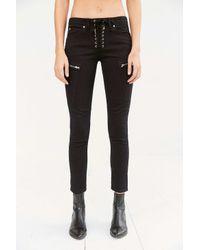 BDG - Black Lorrie Lace-up Skinny Moto Pant - Lyst