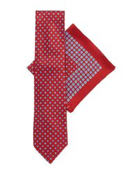 Stefano Ricci - Red Silk Tie & Pocket Square Set for Men - Lyst