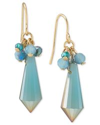 Carolee | Blue Gold-tone Topical Bead Drop Earrings | Lyst