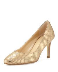 Cole Haan - Lena Metallic Snake-embossed Pump - Lyst